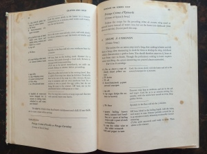 open pages of cookbook