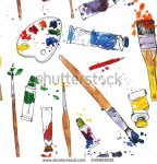 stock-vector-vector-seamless-pattern-with-palette-tubes-of-paint-brushes-and-paint-stains-hand-drawn-vector-249868591