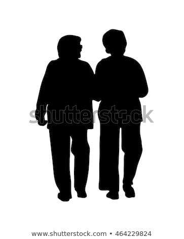 silhouette-two-elderly-women-who-450w-464229824
